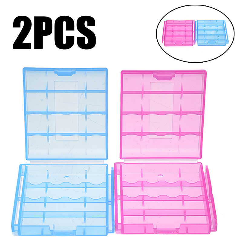 2Pcs/lot Mini Portable Plastic Battery Case Holder Storage Box For AA / AAA Battery Storage Organizer Cover