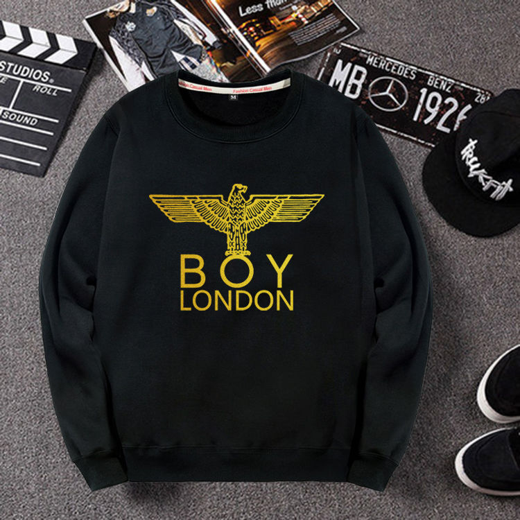 London boys and eagles lovers plush and thickened casual round neck sweater