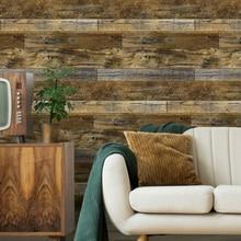 Papel pintado impermeable 3d, papel tapiz de Panel de madera Vintage para paredes, papel de Contacto autoadhesivo, Biblioteca de Hotel, dormitorio, sala de estar