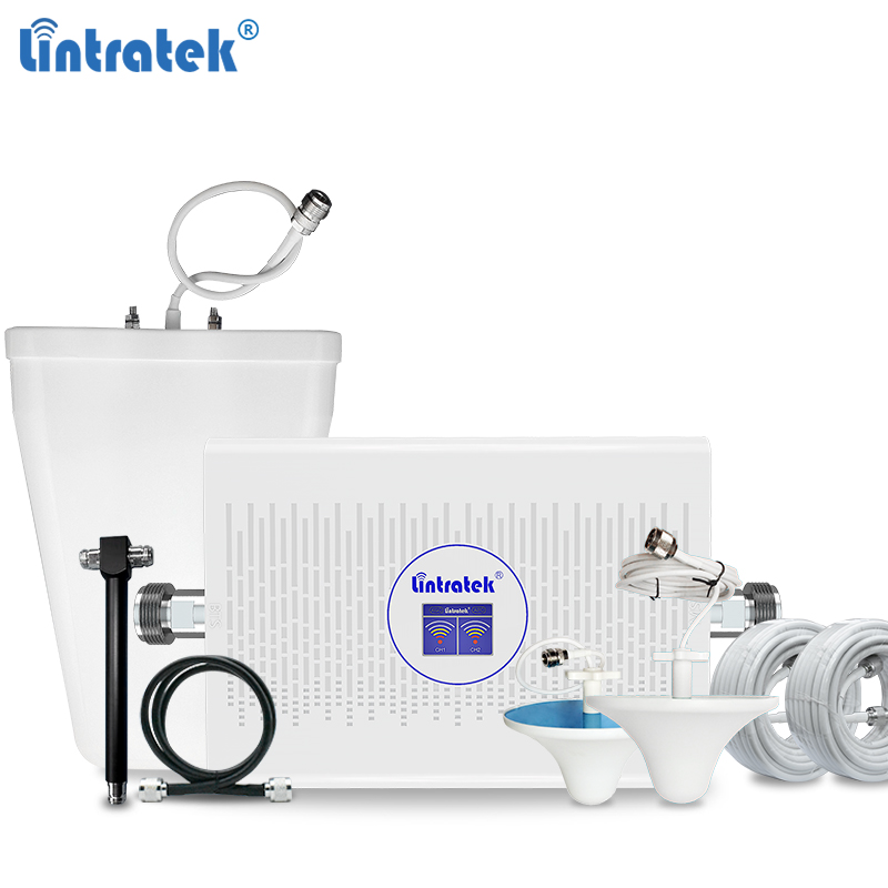 Lintratek AGC 3G 4G Signal Booster 1800 2100Mhz Repeater 70dB Mobile Signal Amplifier 3G 2100 4G LTE 1800 Powerful Booster