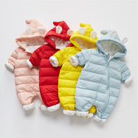 Russia Winter Baby Rompers For Newborn Baby White Duck Down Jumpsuit Overalls Warm Thick Infant Romper Baby Girl Clothing