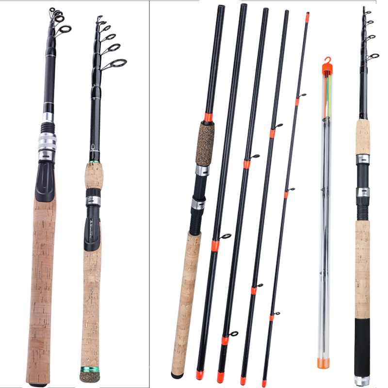 Sougayilang Feeder Series Portable 1.8-2.7cm Mini Telescopic / 6 Section 3.0 3.3 3.6m Carp Feeder 60-180g  Travel Fishing Rod