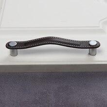 Коричневые t образные дверные ручки для шкафов и ящиков из чистой