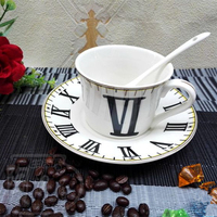 Ceramic coffee cup set European simple bone china coffee cup
