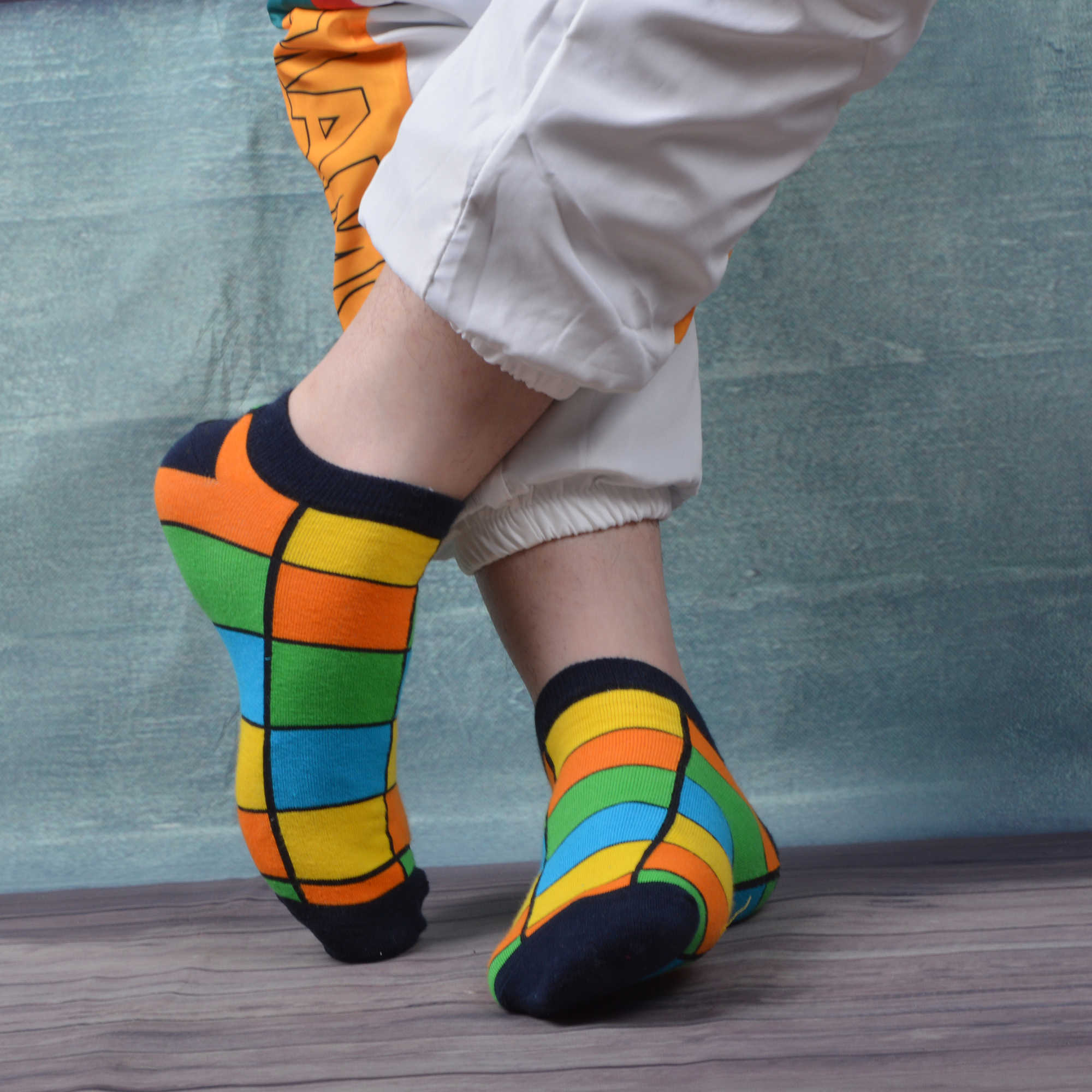 Chanwazibibiliu Tropical Fish Mens Colorful Dress Socks Funky Men Multicolored Pattern Fashionable Fun Crew Cotton Socks