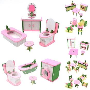 Symulacja miniaturowe drewniane zabawkowe meble udawaj lalki meble domowe zestaw lalki Baby Kids Room zagraj w meble zabawkowe lalki tanie i dobre opinie Toporchid Drewna CN (pochodzenie) Unisex Keep away from fire 897364 5-7 lat 3 lat 2-4 lat 6 lat Symulacja pokoju meble