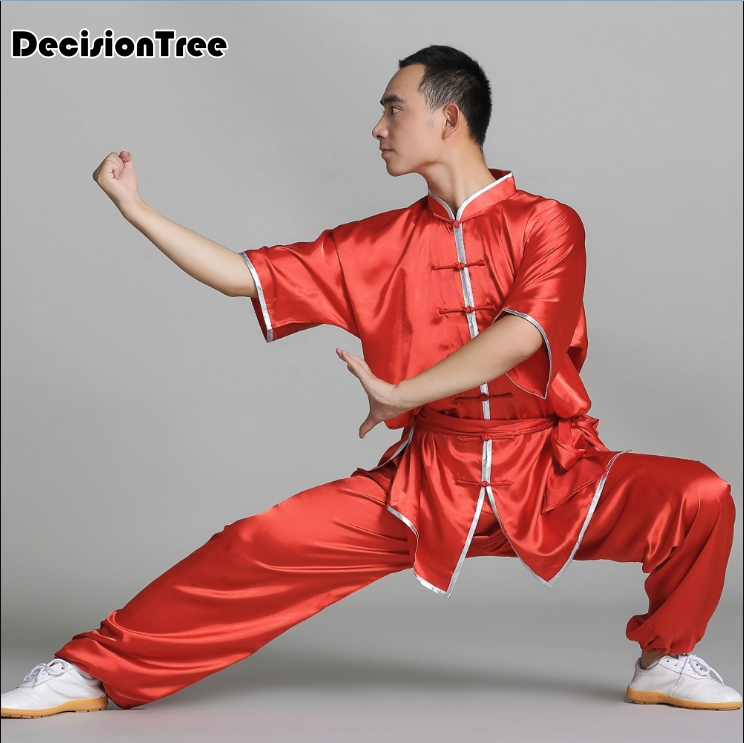 2019 Chinese Tai Chi Shaolin Kung Fu Uniform Wushu Clothing Martial Art Suit Taiji Wushu Costume Wing Chun Stage Performance