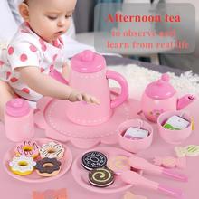 Детские Подарочные игрушки имитирующие кухонные розовый торт