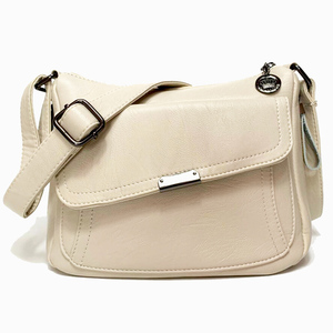 Image 2 - Summer Style 2020 Bolsas Soft Leather Luxury handbags Women bags Designer Multi pocket Crossbody Shoulder Bags For Women Sac