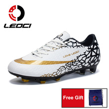 Men Boys Football Boots Long Cleats Soccer Shoes for Kids Ch