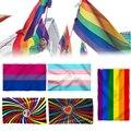 Горячая продажа Новый Радужный Флаг полиэстер Стандартный Флаг Гей гордыня мира Флаги на открытом воздухе в помещении