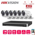 8Channels Hikvision POE NVR Video Surveillance with 6pcs 4MP IP Camera Network Security Night Vision CCTV Security System Kits