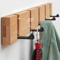 Wand Montiert Mantel Rack Punch freies Schwimm Regale Holz Wand Lagerung Regale mit Haken für Schlafzimmer Wohnzimmer Bad büro-in Haken & Leisten aus Heim und Garten bei