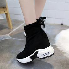 Женские кроссовки; Ботильоны на каблуке 5 см; botas plataforma