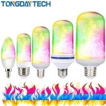 85-265 в светодиодный светильник с пламенем E27 E26 E14 RGB светильник с эффектом огня 9 Вт светодиодный s Bombillas Luces светодиодный Decoracion Lampara Мерцающая лампа