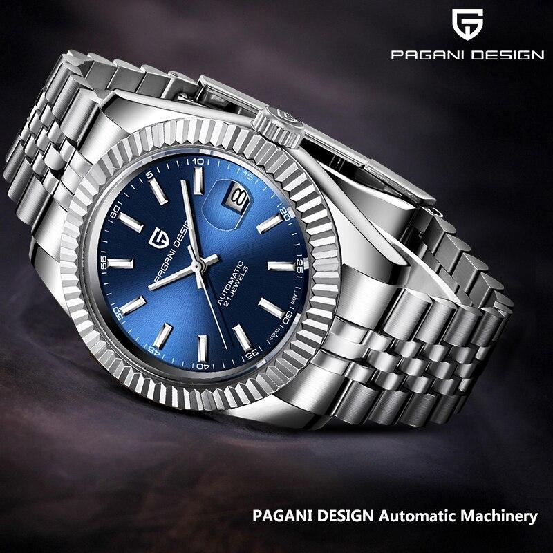 PAGANI DESIGN Men's Watches Fashion Sports Blue Wristwatch Men Top Luxury Brand Mechanical Watch Waterproof Relogio Masculino