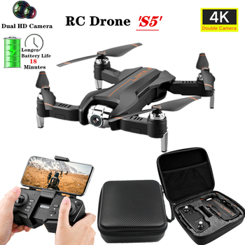 RC Drone 4K HD Camera WiFi FPV Optical-Flow Follow Quadcopter Keep Flying Height  RC Helicopter Toys Gift