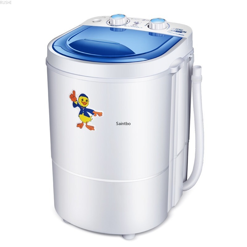 220V 4.5KG Single Barrel Mini Washing Machine Full Semi-automatic Household Pulsator Dewatering Baby Clothes Washing Machine