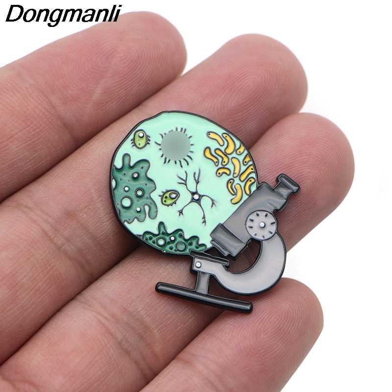 P3608 Dongmanli Vergrootglas Emaille Pin Broche Rugzak Kraag Hoed Badge Vrouwen Mannen Revers Sieraden Geschenken