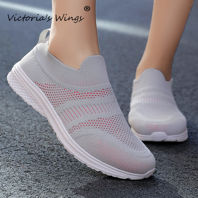 New Victoria's Wings 2020 spring and autumn new flying woven casual sports shoes fashion breathable lightweight running shoes