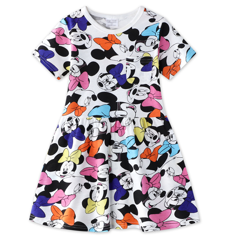 Kids Dresses Baby Girls Dress Girls Summer Dress 2020 Cartoon Minnie Mouse Dress Princess Dress 1-10 Years