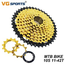 VG Sports 10Speed Cassette 11-42T Bike Freewheel Gold black MTB Mountain Sprocket Flywhee For Shimano Sram Accessories
