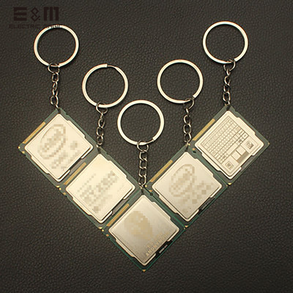 Laser Engraving CPU Key Chain Pattern Customization Personalized Creative Pendant For Science Geek Xeon 115X AMD2 3 AMD1207