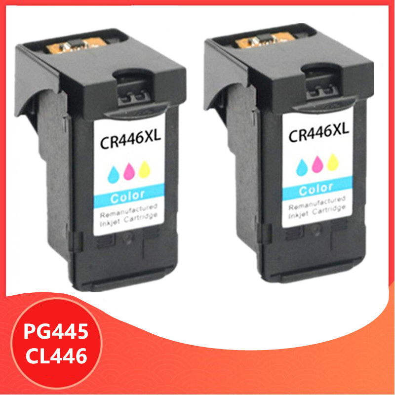 2X Color PG-445 PG445 CL-446 XL Ink Cartridge for <font><b>Canon</b></font> PG 445 CL 446 for <font><b>Canon</b></font> <font><b>PIXMA</b></font> MX494 MG2440 MG2940 MG2540 <font><b>MG2540S</b></font> IP2840 image