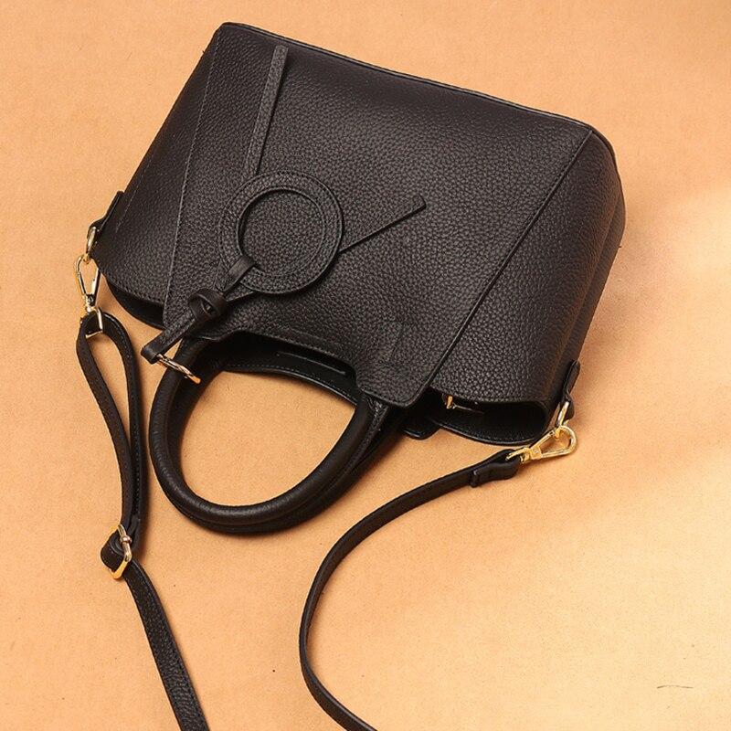 YUFANG femmes épaule messenger sacs dames en cuir véritable sac à main marque de haute qualité sac à bandoulière femme petit fourre-tout sac à main - 2