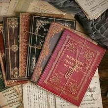 10 листов оригинальный ретро старинные книжные страницы Материал Бумага декоративная минусовки старинные серии DIY наклейки ноутбука планировщик