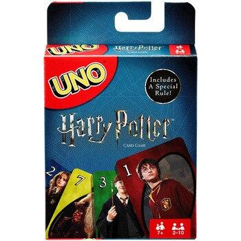Juegos de mesa Mattel UNO de Harry Potter, familia, entretenimiento divertido, juego de mesa, cartas de juego, caja de regalo, juego de cartas Uno