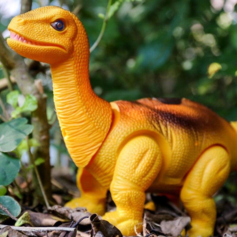Игрушечная модель динозавра, светильник с голосом, ходячим брахиозавром, электронный динозавр, робот, лежа яйца, анимальные Игрушки для мал...