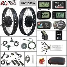 RICETOO Электрический велосипед 48 в 1500 Вт BLDC Fat Tire Снежный велосипед комплект для преобразования с задней кассетной ступицей моторное колесо с ...