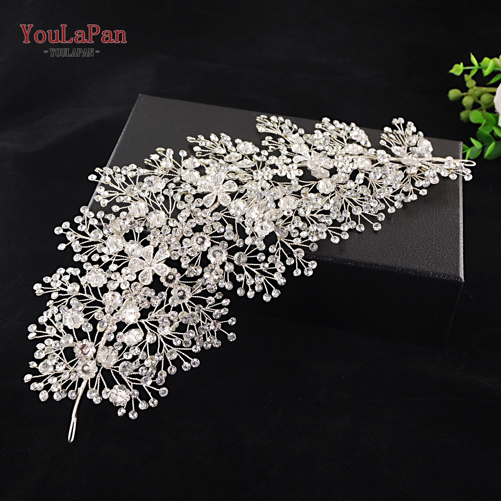 Image 4 - YouLaPan SH240 rhinestone belt bridal jeweled belt for formal dress Sliver diamond belt Alloy flower crystal beaded belts-in Bridal Blets from Weddings & Events