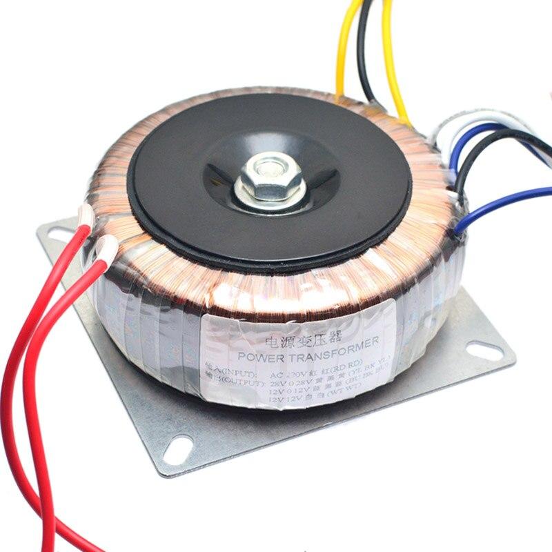 Dual Ac 28V 12V Single 12V 200W Transformer for Preamplifer Amplifer Tone Board Used