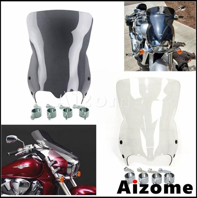 กระจกรถจักรยานยนต์ลม Air Deflector กระจกหน้าจอสำหรับ Suzuki Boulevard M109R2 M109RZ M109R M50 M90 2007 2016