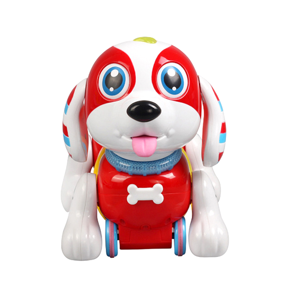 Ephex Fun Plastic Light Induction Dog Small Milk Bottle Parent-Child Interaction Drink Milk Dog Cute Tongue Stick Out Hobby