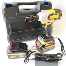 Электрический гайковерт 550 Н. М, 88 в, 10000 мА/ч, 2 аккумулятора, бесщеточный беспроводной привод, ручная дрель, головка автомобиля, Электрически...