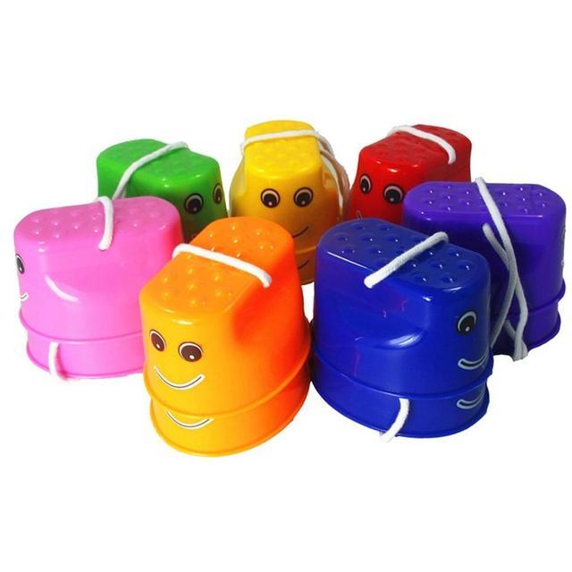 유치원 교육 장난감 플라스틱 웃는 얼굴 색상 두꺼운 어린이 죽마 감정 훈련 균형 잡힌 죽마