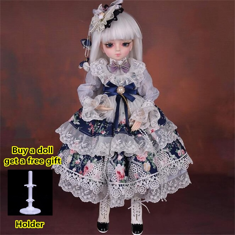 18 Movable Joints BJD Doll 1/4 With Full Outfits Wigs Shoes official Makeup Ball Jointed Dolls collection kids toys Christmas gi 15