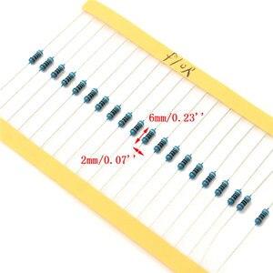 Image 5 - 3120 pcs 156 Valori Elettrico Unità di 1/4 W di Potenza Resistore a Film Metallico Kit 1R 10M 1% di Tolleranza di Assortimento Set 1ohm 10Mohm campioni pacchetto