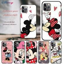 Animacja Mickey Mouse dla Apple iPhone 12 11 Pro Max mini XS Max XR X 8 7 6 6S Plus 5S SE 2020 miękki czarny futerał na telefon