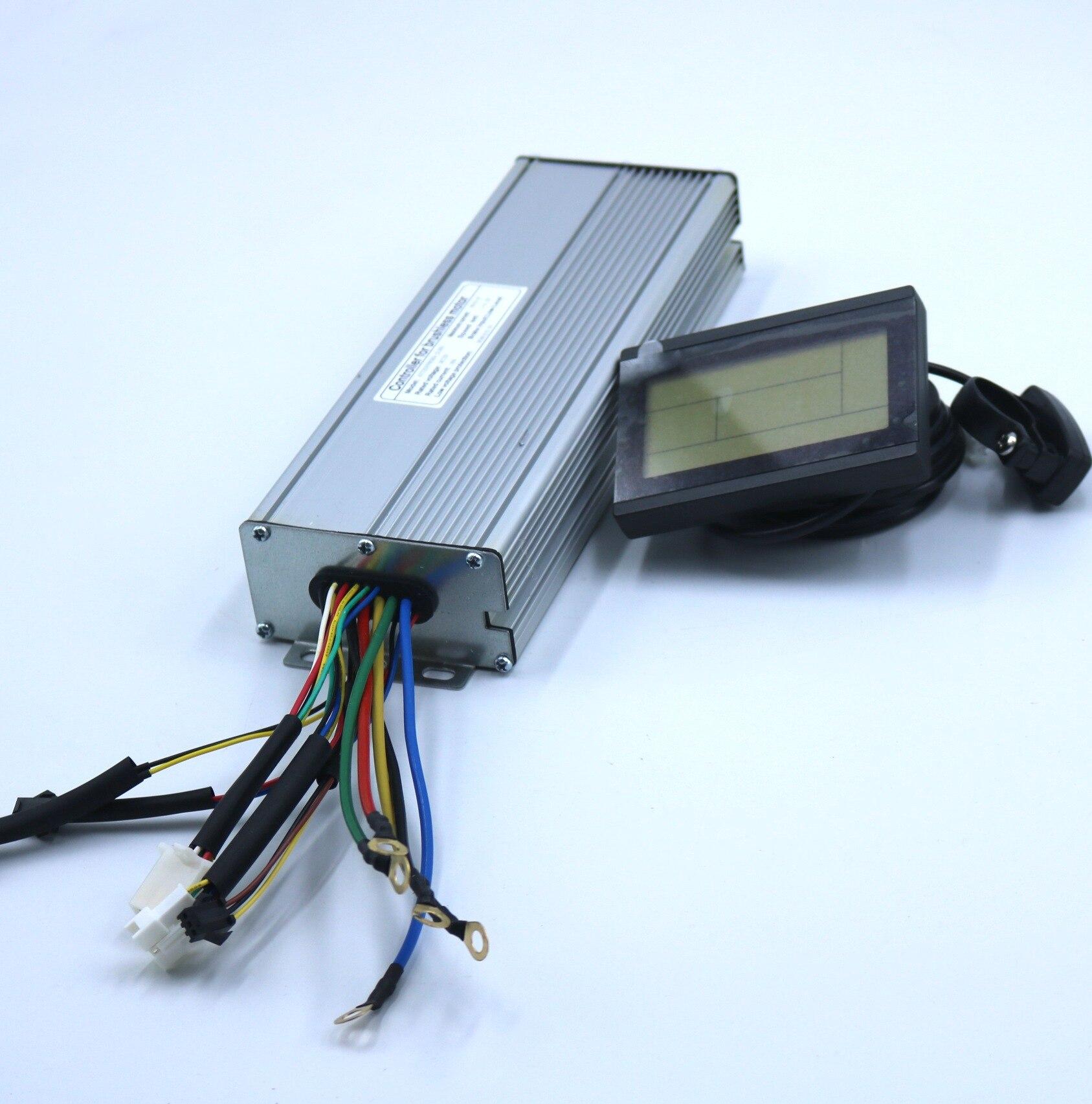 72V 2500W-3000W 60Amax bezszczotkowy sterownik silnika DC Ebike LCD3 KUNTENG kontroler sinusoidalny + KT-LCD3 wyświetlacz jeden zestaw
