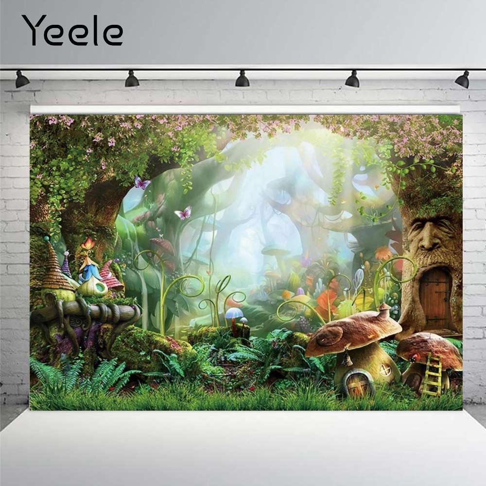 Yeele wonderland floresta selva sping flor sonhador natureza cenário castelo cena do bebê pano de fundo fotografia estúdio
