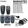 Для пульт marantec Digital D302 D382 868 HORMANN HSE2 HSM2 HSM4 868 MHz автоматическое Клонирование пульт дистанционного управления для ворот гаража