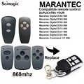 สำหรับ Marantec ดิจิตอล D302 D382 868 HORMANN HSE2 HSM2 HSM4 868 MHz อัตโนมัติ Cloning รีโมทคอนโทรลสำหรับโรงรถประตู barrier