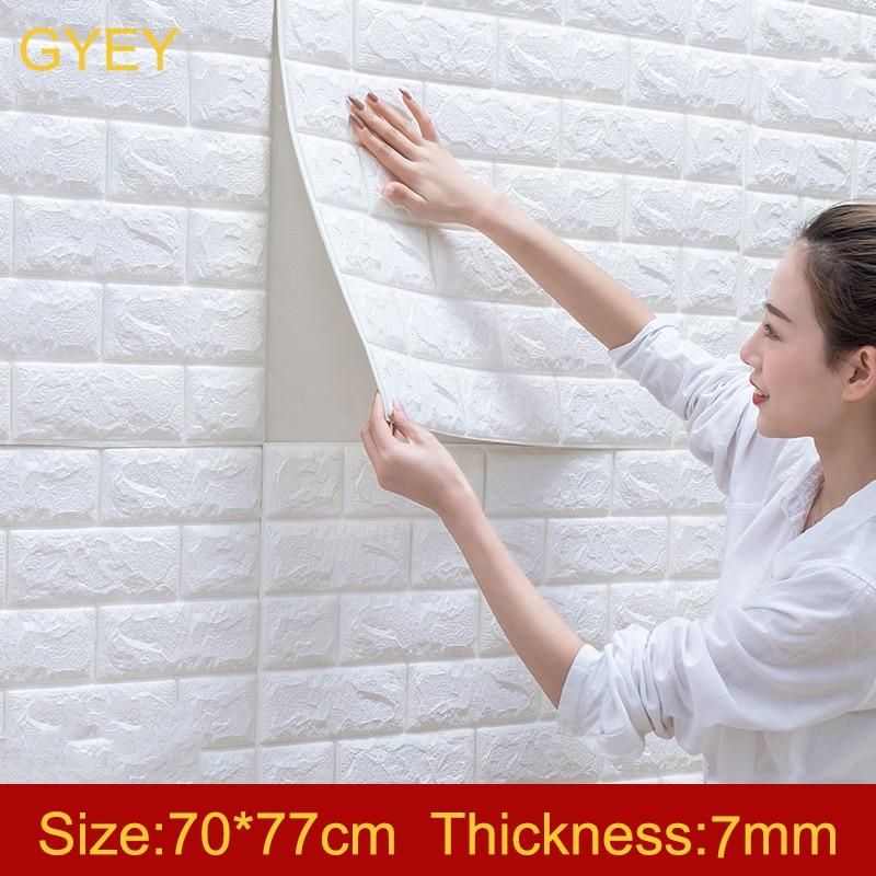 Self Adhesive Waterproof TV Background Brick Wallpapers 3D Wall Sticker Living Room Wallpaper Mural Bedroom Decorative 70*77