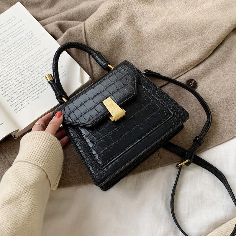 Stone Pattern PU Leather Crossbody Bags For Women 2020 Fashion Mini Totes Female Messenger Shoulder Bag Lady Travel Handbags