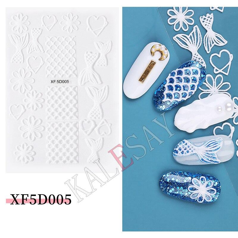 Наклейки для дизайна ногтей «сделай сам», тисненые наклейки для дизайна ногтей русалки, наклейки на ногти, наклейки для маникюра, подвески, ...