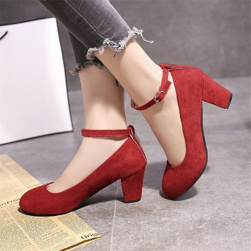 5CM Heel Shoes Women Pump Strappy Heels